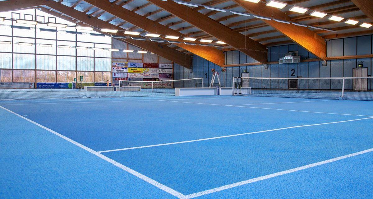 Tennishalle TC Hengersberg - Innenansicht
