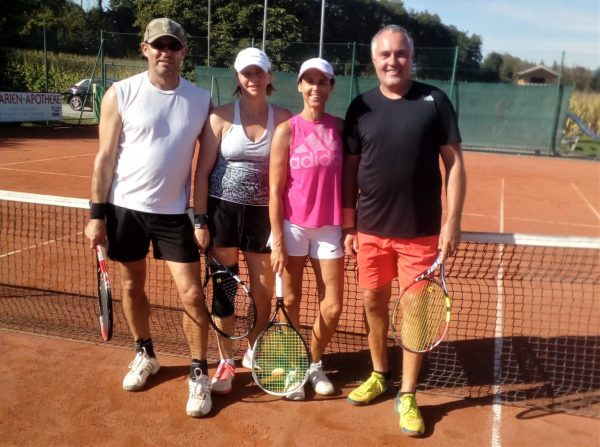 Sie standen sich im B-Finale gegenüber, v.l. die Sieger Jürgen Achatz und Andrea Kammerer sowie Doris Rauch und Andreas Zißlsberger