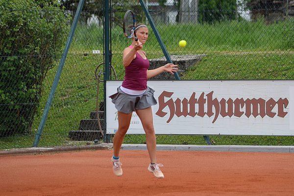 Die Nummer eins der Hengersberger Damen, Niederbayerns Vizemeisterin, Steffi Baumgartner