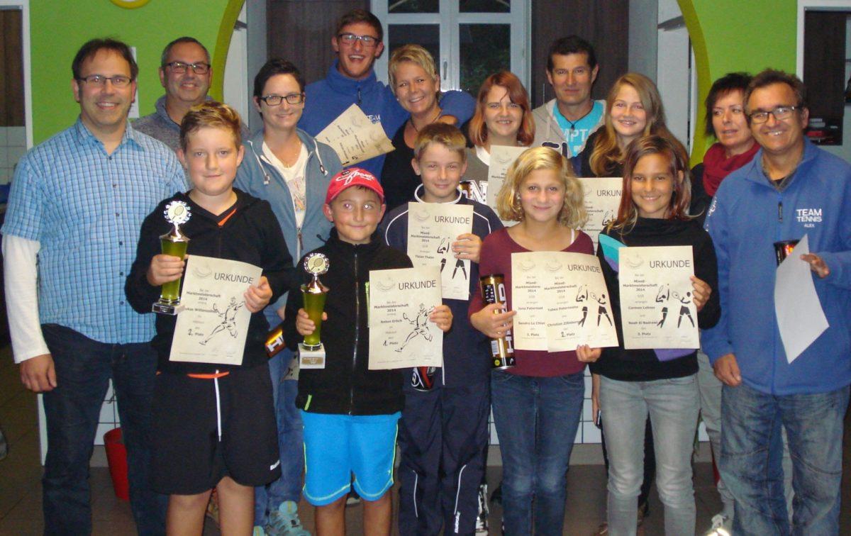 Die Finalisten der Mixed- und Midcourtmeisterschaften